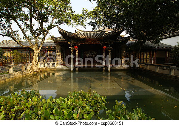 An ancient chinese garden in china stock photography Search