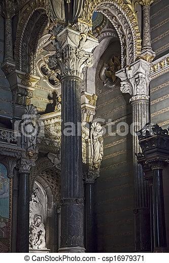 Ancient church in France - csp16979371