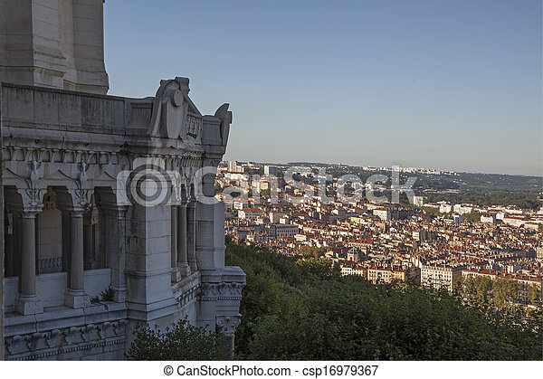 Ancient church in France - csp16979367