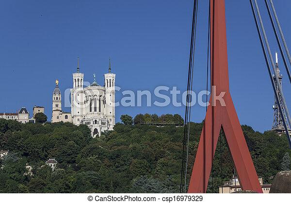 Ancient church in France - csp16979329