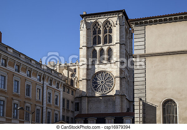 Ancient church in France - csp16979394