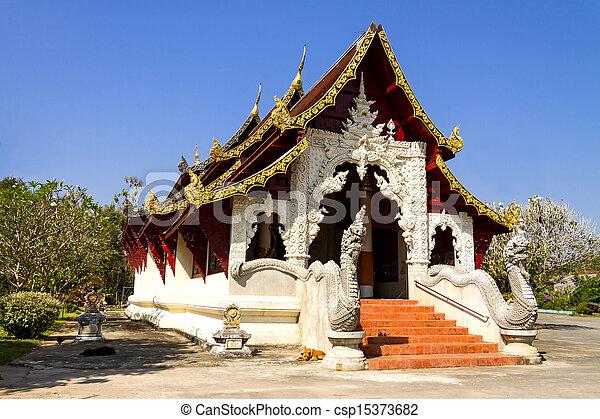 Ancient church lan Na - csp15373682
