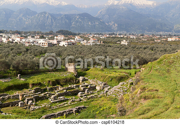 Ancient city of Sparta in Greece - csp6104218