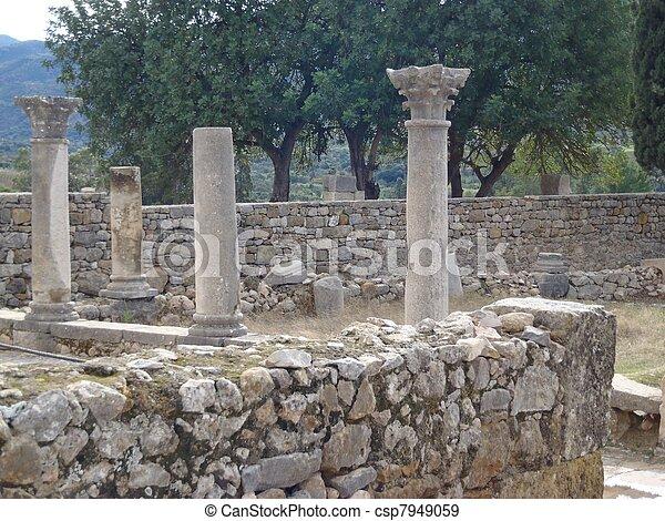 Ancient columns - csp7949059