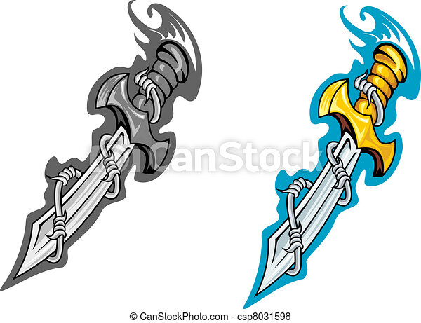 ancient dagger with barbed wire for tattoo design vector search rh canstockphoto com bloody dagger clipart vintage dagger clipart