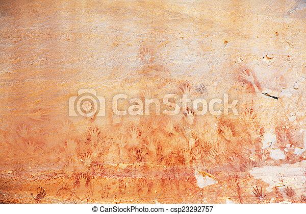 Ancient Drawing - csp23292757