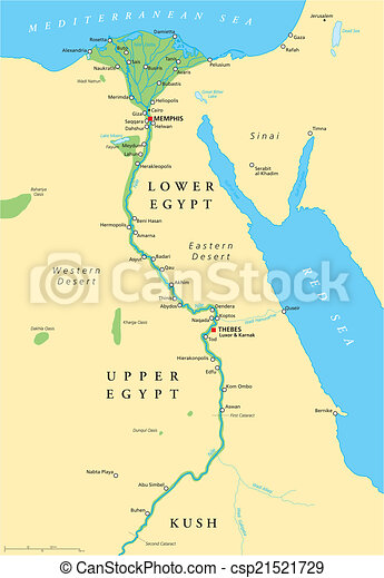 Ancient Egypt Map - csp21521729