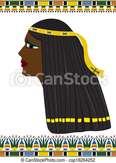 Ancient Egypt portrait of woman - csp16264252