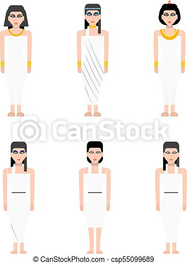 Ancient Egypt woman - csp55099689
