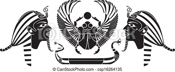 Ancient Egyptian composition - csp16264135
