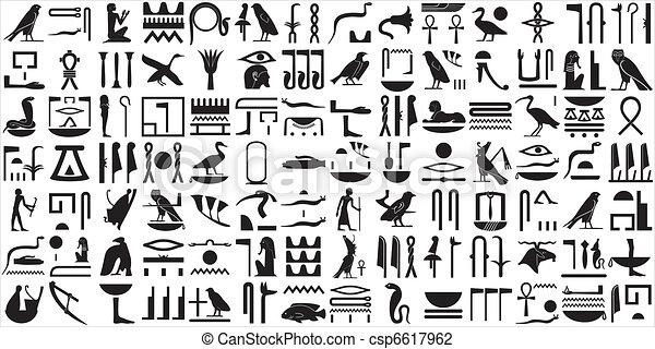 Ancient Egyptian hieroglyphs SET 2 - csp6617962