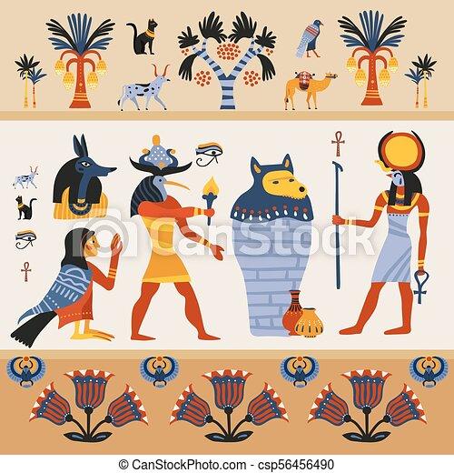 Ancient Egyptian Illustration - csp56456490