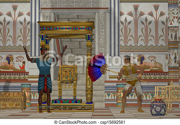 Ancient Egyptian Men - csp15692561