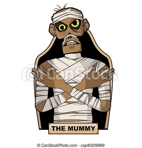 Ancient Egyptian Mummy - csp40209969