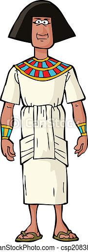 Ancient Egyptian nobleman - csp20838002