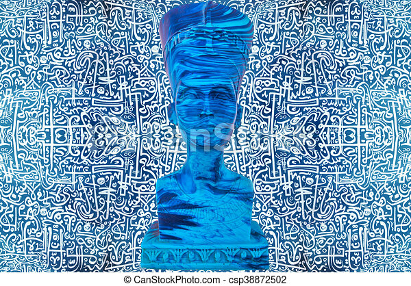 Ancient egyptian pharaoh statue stock illustration - Search Clipart ...