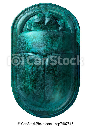 Ancient Egyptian Scarab Beetle - csp7407518
