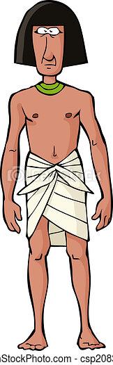 Ancient Egyptian slave - csp20838012