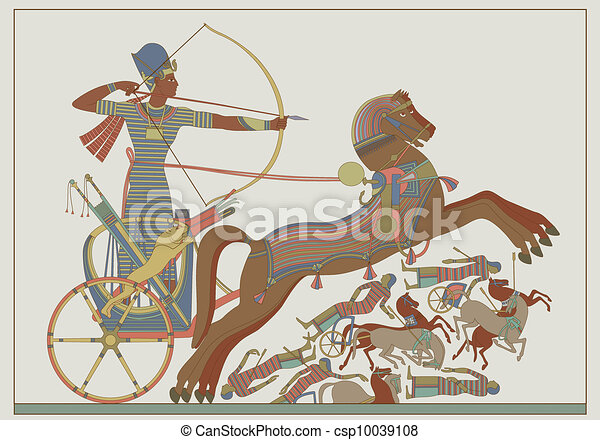 Ancient egyptian vector relief - csp10039108