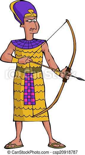 Ancient Egyptian warrior - csp20918787