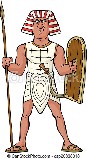 Ancient Egyptian warrior - csp20838018