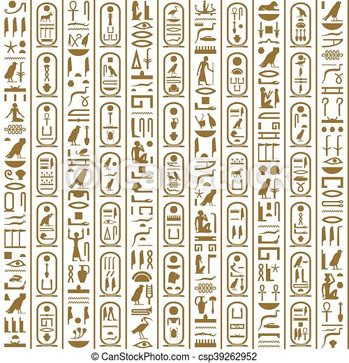 Ancient Egyptian writing - csp39262952