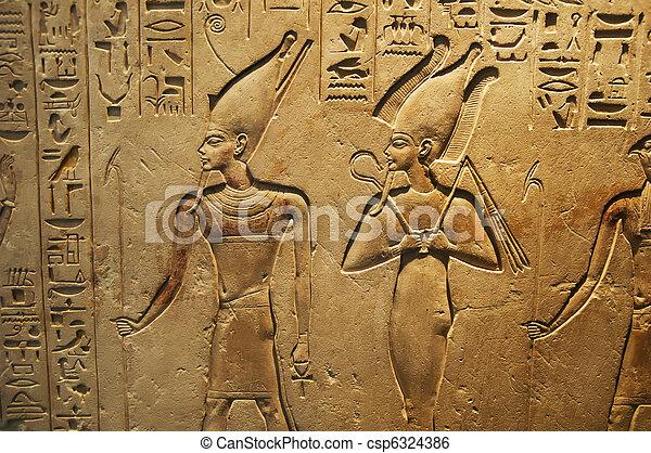 ancient Egyptian writing - csp6324386