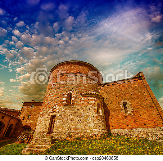Ancient European Architecture And Landmarks Stock Photo
