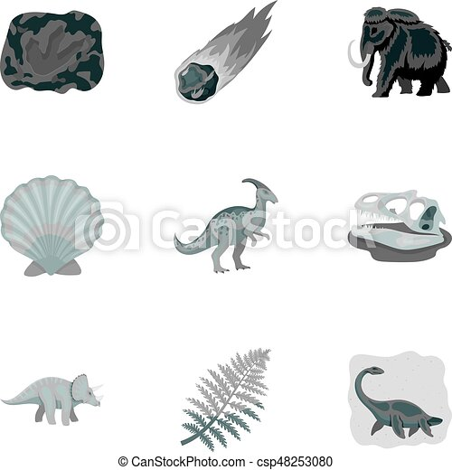 Image of: Prehistoric Creatures Ancient Extinct Animals And Their Tracks And Remains Dinosaurs Tyrannosaurs Pnictosaursdinisaurs Can Stock Photo Ancient Extinct Animals And Their Tracks And Remains Dinosaurs