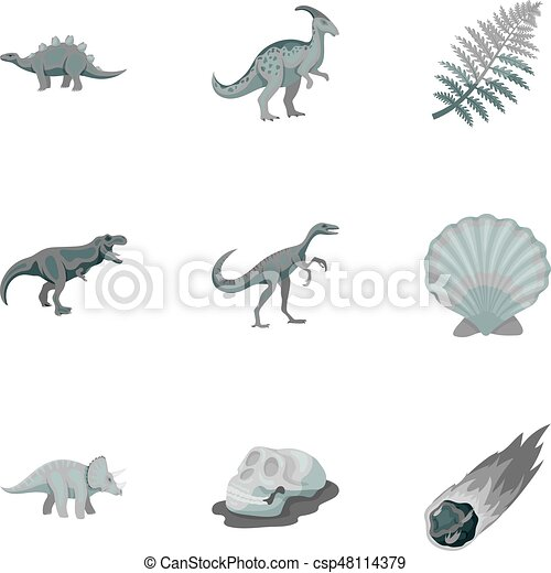 Image of: Remains Ancient Extinct Animals And Their Tracks And Remains Dinosaurs Tyrannosaurs Pnictosaursdinisaurs And Prehistorical Icon In Set Collection On Monochrome Can Stock Photo Ancient Extinct Animals And Their Tracks And Remains Dinosaurs