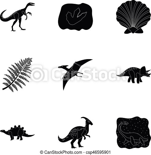 Image of: Vector Ancient Extinct Animals And Their Tracks And Remains Dinosaurs Tyrannosaurs Pnictosaursdinisaurs Can Stock Photo Ancient Extinct Animals And Their Tracks And Remains Dinosaurs
