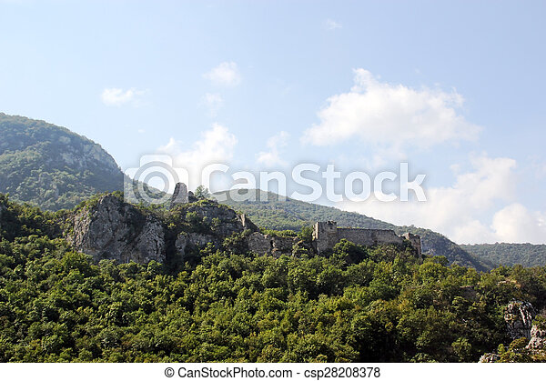 Ancient fortress in the mountains - csp28208378