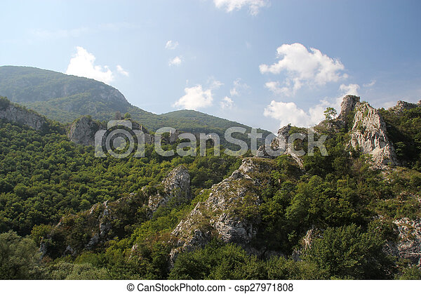 Ancient fortress in the mountains - csp27971808