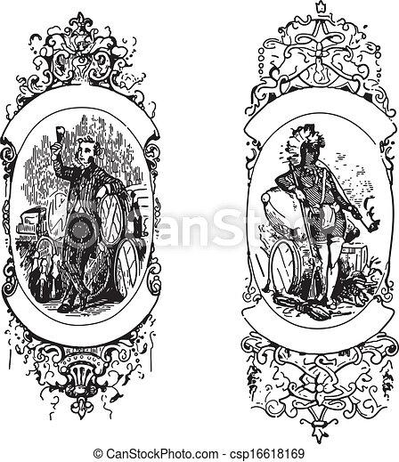 Ancient frames - csp16618169