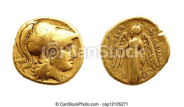 Ancient gold coin - csp12105271