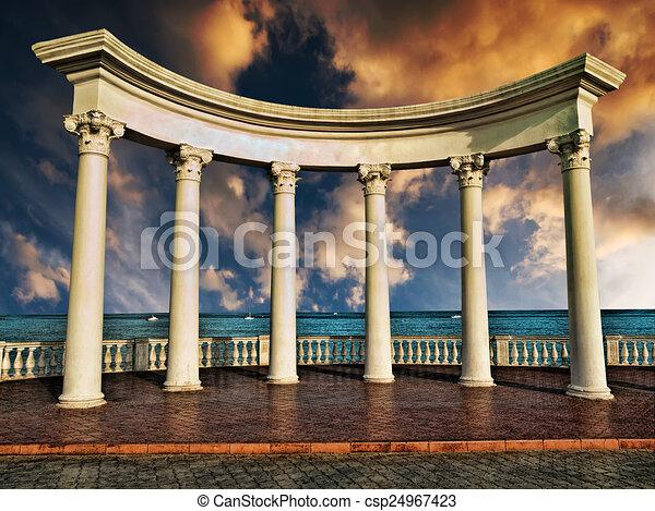 Ancient Greek columns - csp24967423