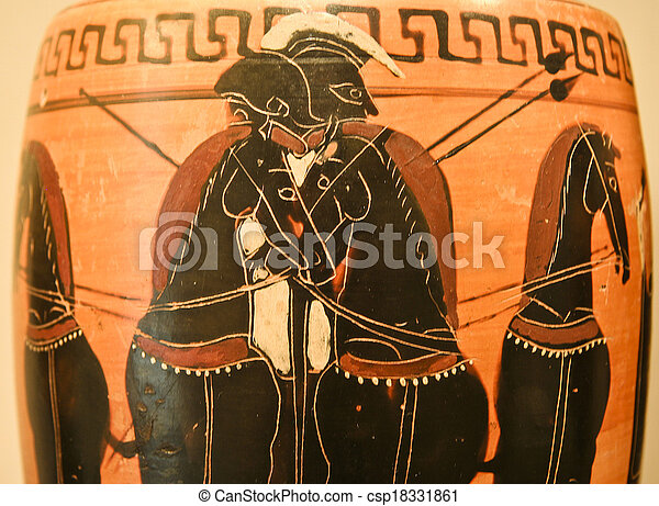Ancient Greek Pottery Ancient Greek Vase Paintings In Black Over