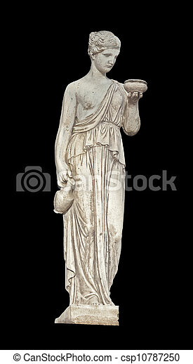 Ancient Greek statue of a muse - csp10787250