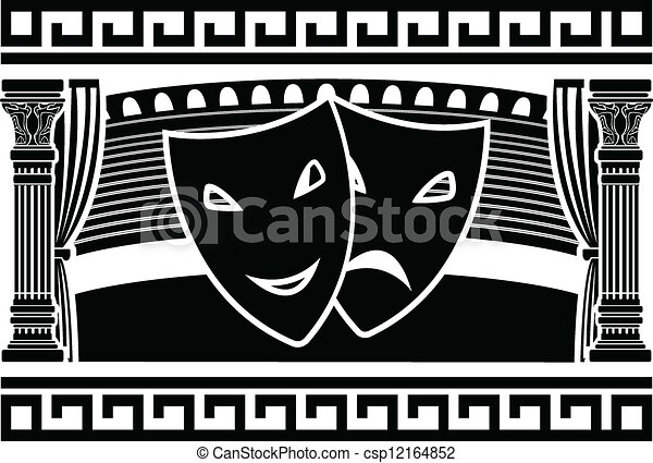 Line Drawing Vector Graphics : Ancient greek theatre clipart vector search illustration drawings