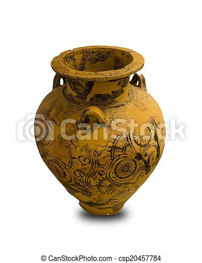 Ancient Greek Vase Isolated Ancient Greek Vase Isolated On White