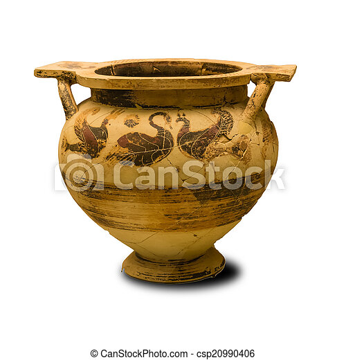 Ancient Greek Vase Isolated Ancient Greek Vase Isolated On White