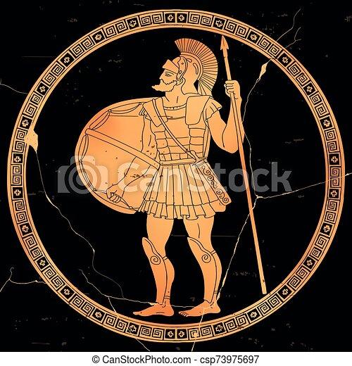 Ancient Greek Warrior. - csp73975697