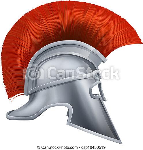 Ancient Greek Warrior Helmet - csp10450519
