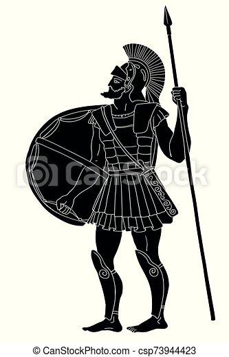 Ancient Greek Warrior. - csp73944423