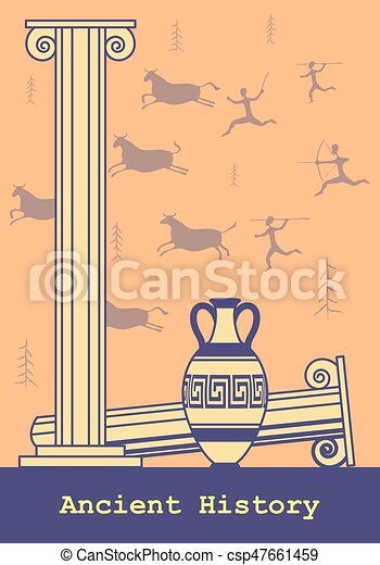 Ancient History Background. - csp47661459