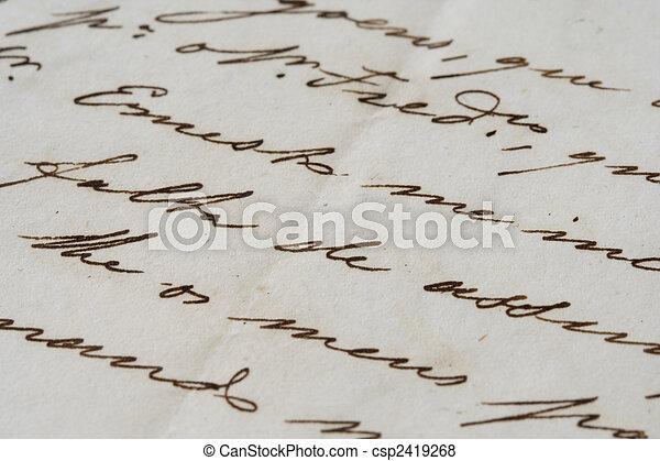 Ancient letter - csp2419268