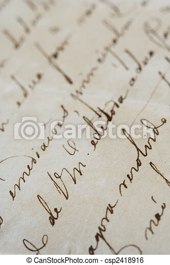 ancient letter - csp2418916