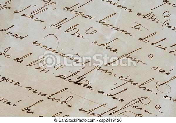 Ancient letter - csp2419126