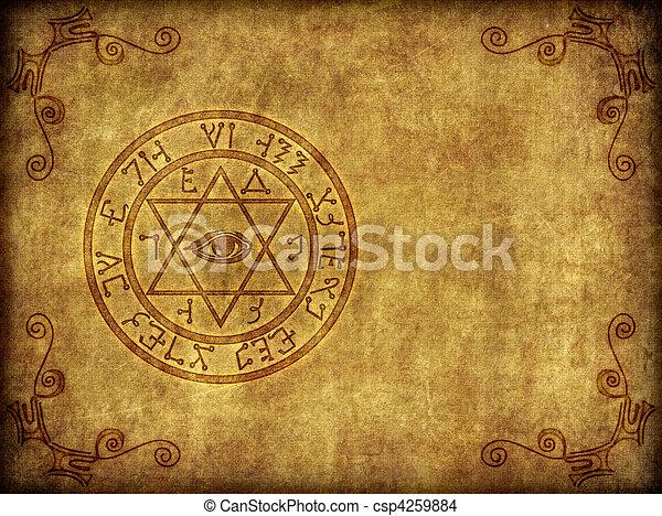 Ancient Magik Sigil Illustration - csp4259884