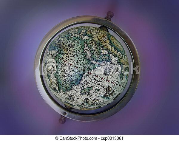 Ancient map globe - csp0013061